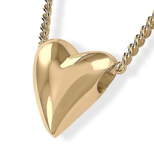 Achsbügel Großes Herz Gold Asche Schmuck