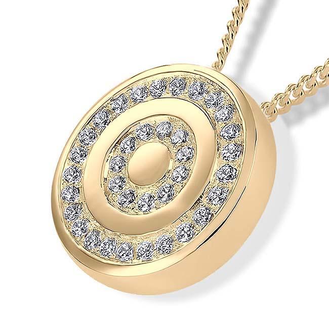 Asche Schmuck Brillant geschärfte Brillante – Gold, inklusive Colliere Asche Schmuck
