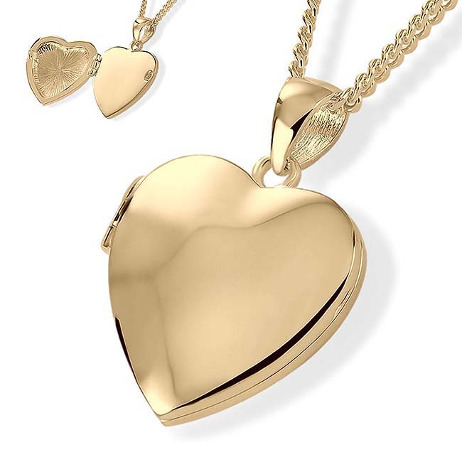 Herz Medaillon für Foto und Asche – Gold Asche Schmuck