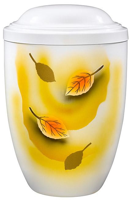 Design Urne Fallende Blätter (4,0 Liter) Edelstahl Urnen