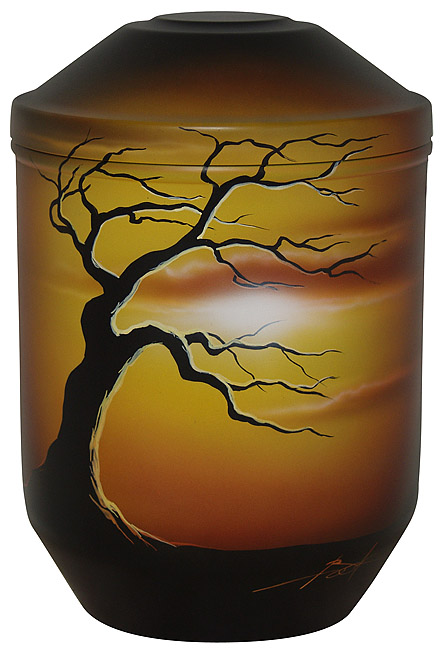Design Urne Blattloser Baum (4,0 Liter) Edelstahl Urnen