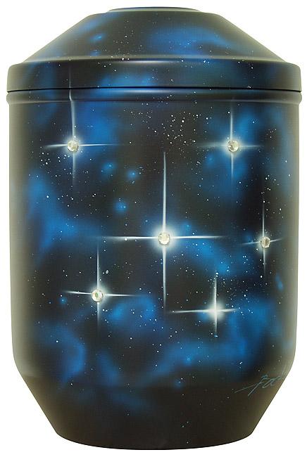 Design Urne Funkelnde Sterne (4,0 Liter) Edelstahl Urnen