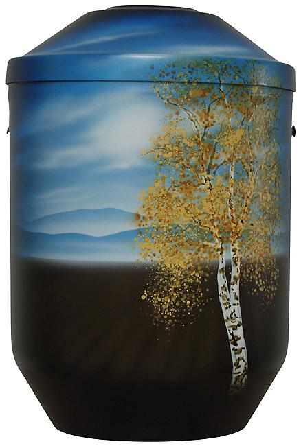 Design Urne Einsame Birke (4,0 Liter) Edelstahl Urnen