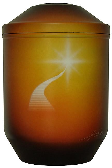 Design Urne Beleuchtete Himmelstreppe (4,0 Liter) Edelstahl Urnen