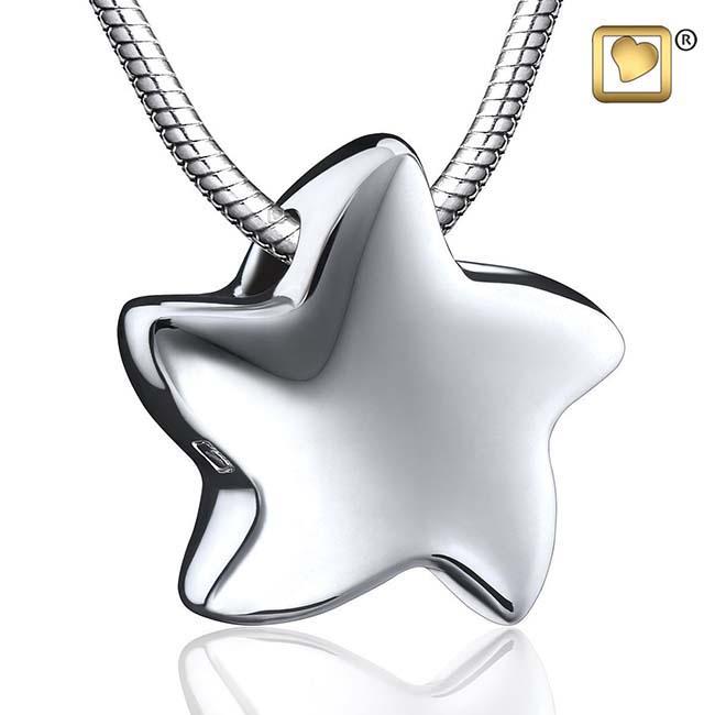 Asche Schmuck Stern – Silber, inklusive Colliere Asche Schmuck