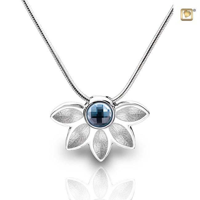Asche Schmuck Nirvana Blume Azurblau, inklusive Colliere Asche Schmuck