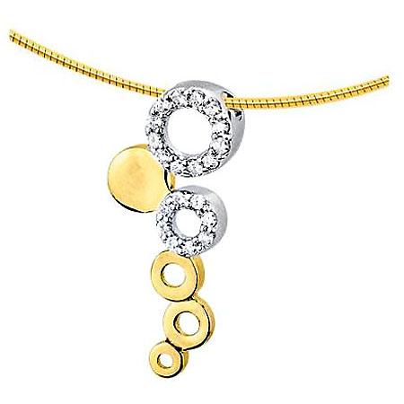 Asche Schmuck Fantasie Gold mit 20 Diamanten Asche Schmuck