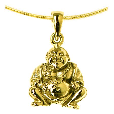 Aschenanhänger Buddha Gold Asche Anhänger Buddha