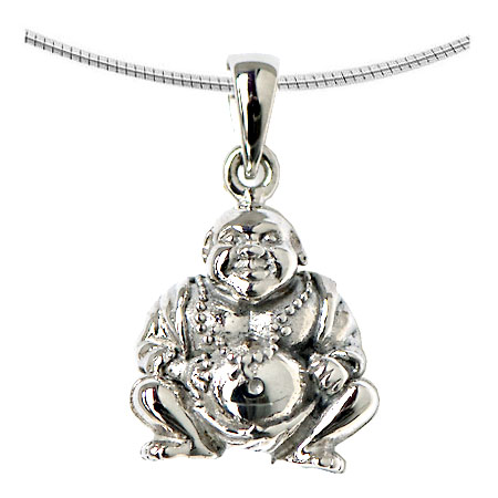 Aschenanhänger Buddha Weißgold Asche Anhänger Buddha