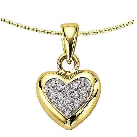 Achsbügel Herz mit Diamanten – Gold Asche Schmuck