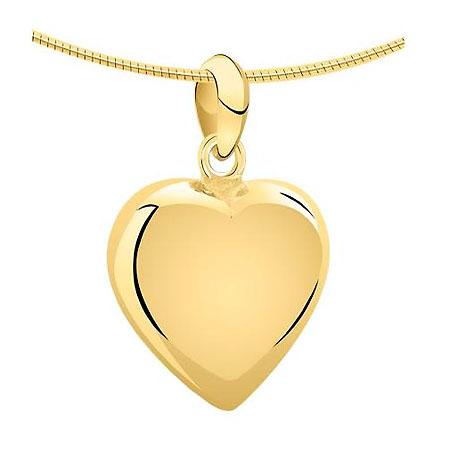 Achsbügel Herz Gold Mittelgroße Asche Schmuck