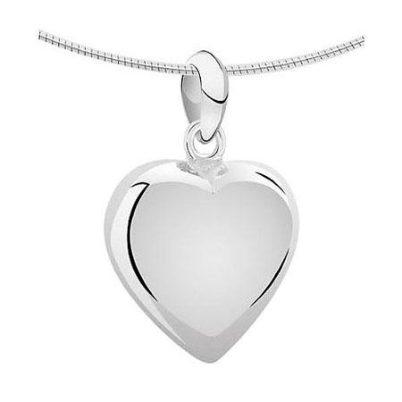 Achsbügel Herz Silber Mittelgroße Asche Schmuck