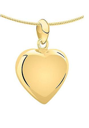 Achsbügel Herz Gold Asche Schmuck