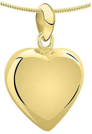 Achsbügel Große Herz Gold Asche Schmuck