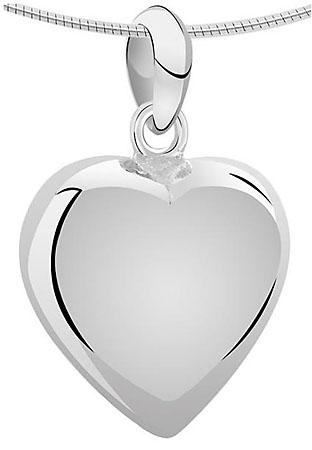Achsbügel Große Herz Weißgold Asche Schmuck