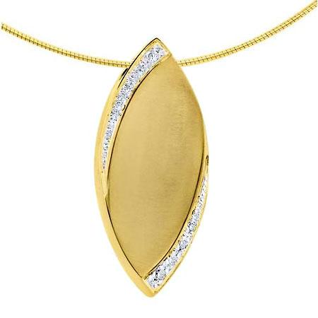 Asche Anhänger Flamme mit Diamant – Gold Asche Schmuck