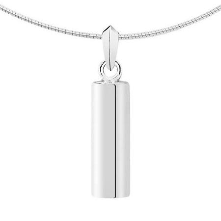 Aschenanhänger Rundrohr – Silber Asche Schmuck