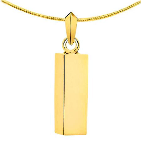 Aschenanhänger Quadratische Röhre – Gold Asche Schmuck