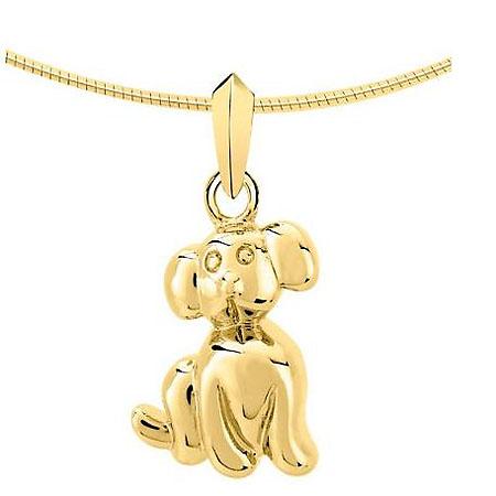 Asche Medaillon Hund Gold Asche Schmuck