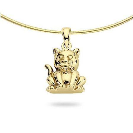 Anhänger Kätzchen Gold Asche Schmuck