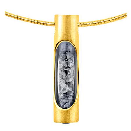 Röhrenförmige Haarsträhne oder Aschenanhänger Gold