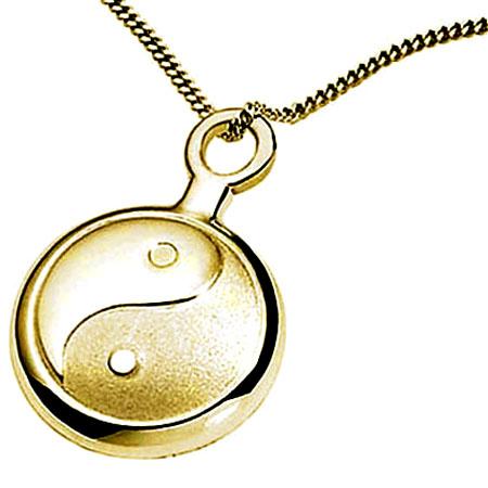 Asche Anhänger Yin Yang Gold Asche Schmuck