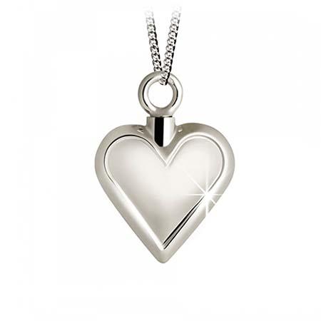Achsbügel Herz mit Glanzkante Silber Asche Schmuck