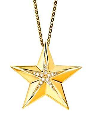 Asche Schmuck Stern – Gold mit Brilliant Asche Schmuck