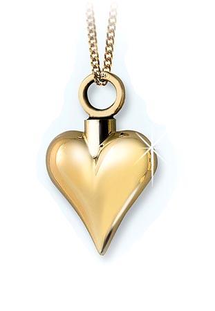 Achsbügel Herz Gold – Kleine Asche Schmuck