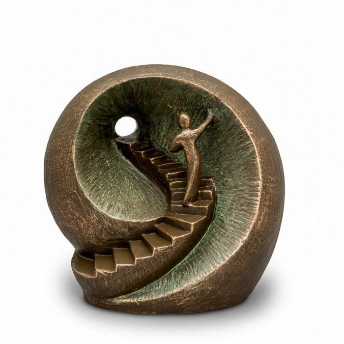 Große Keramische Art Urne Silber zum Licht (3,5 Liter) Keramik art Urnen