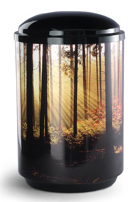 360 Graden Foto Desing Urne Waldlandschaft (4,0 Liter)