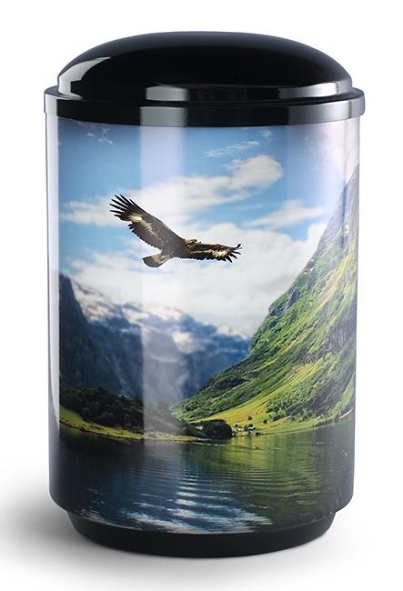 360 Graden Foto Design Urne Adler (4,0 Liter) Edelstahl Urnen