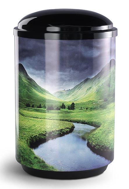 360 Graden Design Foto Urne Bergbeek (4,0 Liter) Edelstahl Urnen
