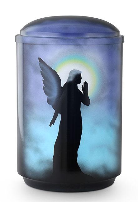 Design Urne Engel in der Nacht (4,0 Liter) Edelstahl Urnen