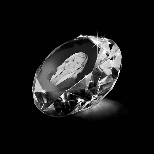 Kristallglas Diamant mit Lasergravur (5 cm) Glas Mini art Urnen
