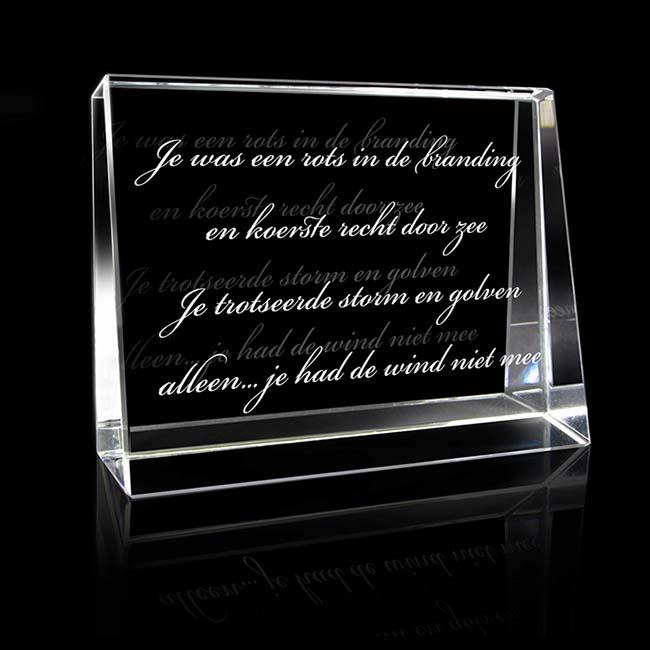 Kristallglas Landschaftsrechteck mit Lasergravur (8 cm) Glas Mini art Urnen