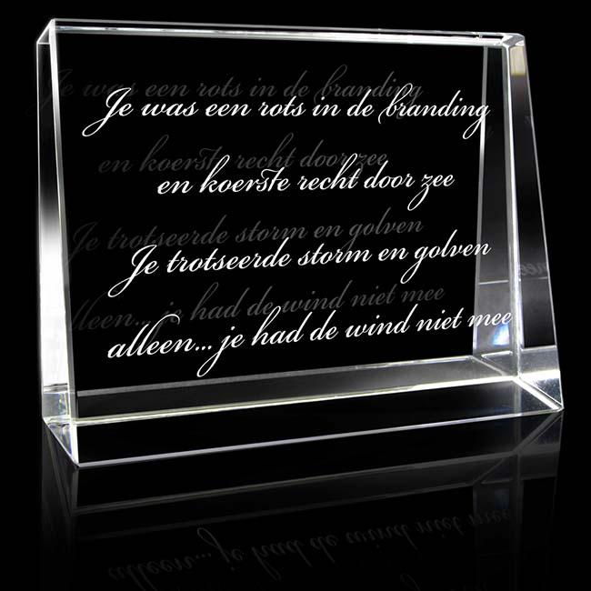 Kristallglas Landschaftsrechteck mit Lasergravur (10 cm) Glas Mini art Urnen