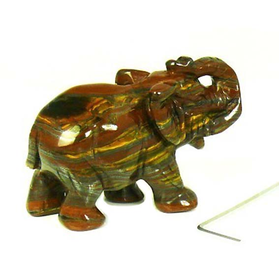 Elephant Noble Memorial Stone Tiger Eisen (0,01 Liter) Natursteinurnen Mini Urnen