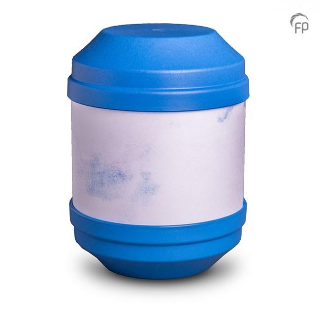 Biologische Abbaubare Öko Urne Blau, Schreibbar (4,0 Liter) Ökologische Urnen