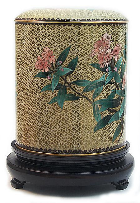Große Cloisonne Tierurne Kirschblüte (5,5 Liter) Tierurnen