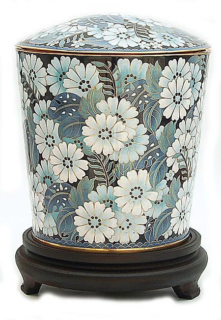 Große Cloisonne Tierurne Gänseblümchen (4,0 Liter) Tierurnen