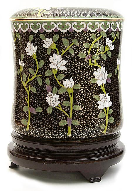 Große Cloisonne Tierurne Blumenhimmel (5,0 Liter) Tierurnen
