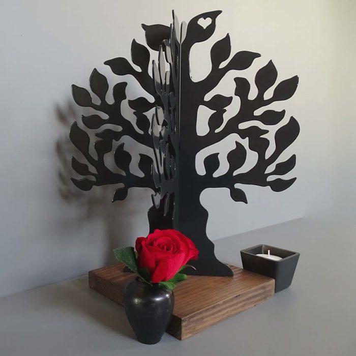 3D Mini Urne Gedenkbaum Schwarz oder Weiß (0,015 Liter) Rahmenurnen