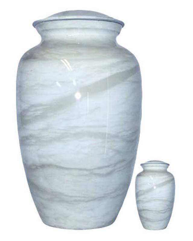 Eleganz Urnen Vorteilset Blau Marmor Aussehen (3,6 Liter) Günstige Urnen