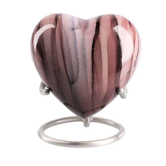 Eleganz Urne Pink Streifen (0,1 Liter) Günstige Urnen