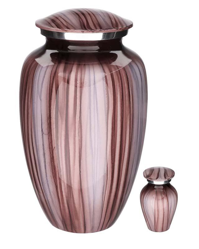 Eleganz Urnen Vorteilset Pink Streifen (3,6 Liter) Günstige Urnen