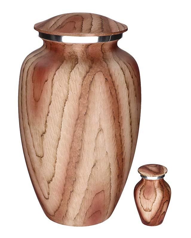 Eleganz Urnen Vorteilset Beige Wald Aussehen (3,6 Liter) Günstige Urnen
