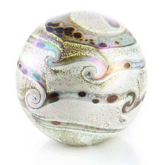 Große Kristallgläser Kugel Urne Elan Elfenbein (4,0 Liter) Glas art Urnen