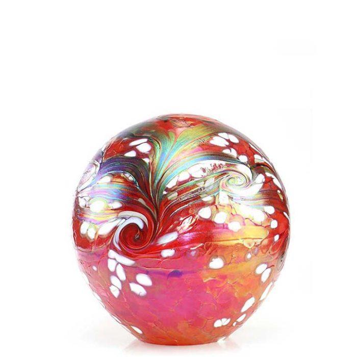 Kleine Kristallgläser Kugel Urne Elan Rot (0,5 Liter) Glas art Urnen