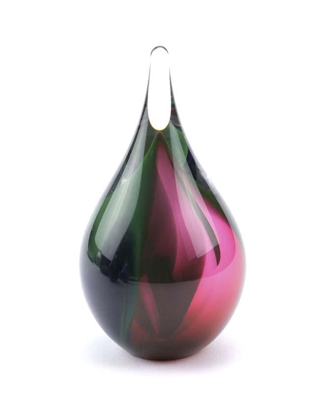Mini 3D Kristallgläser Träne Urne rosa-schwarz-grün (0,05 Liter) Träne Urnen